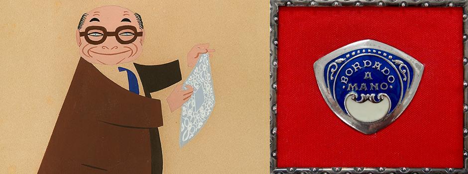 """Imatge exposició """"Estovalles brodades a mà Calasanz Martí"""""""