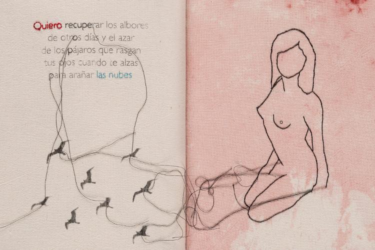 "Imatge ""Desaliento"", llibre de tela de l'artista Roser López Monsò"