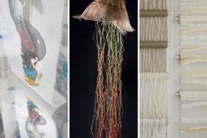 """imatge exposició, """"Itineraris'17, tres mirades des del tèxtil"""""""