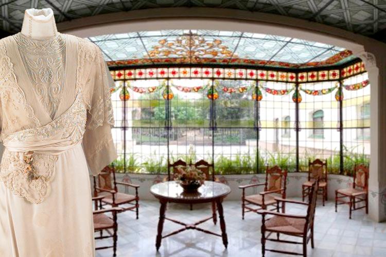 Imatge de la galeria dels vitralls de la Casa Alegre de Sagrera.