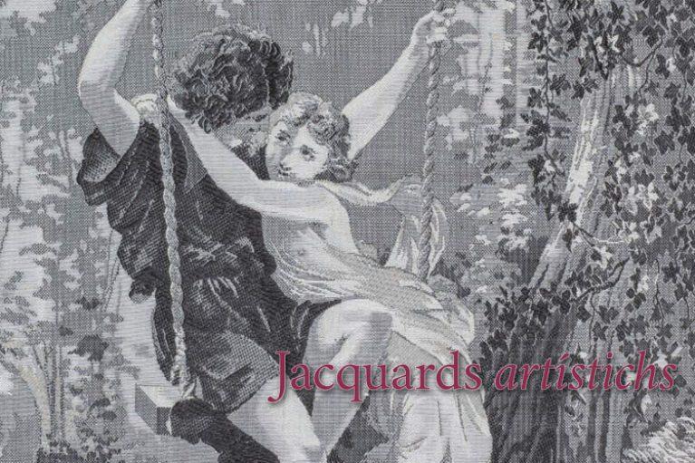 imatge catàleg, Jacquards artístichs, teixits singulars a les col·leccions catalanes.