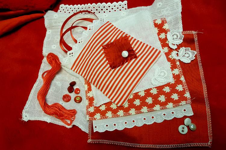Imatge taller familiar infantil: Cosir en blanc i vermell