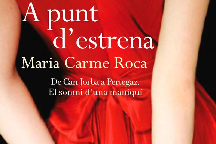 """Imatge detall portada llibre """"A punt d'estrena"""" de Maria Carme Roca."""