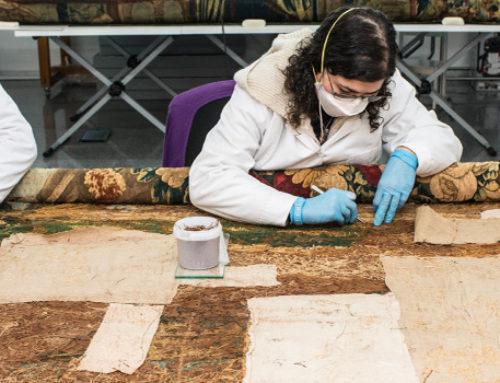 Inici de la restauració dels tapissos de la Fundació Muñoz Ramonet