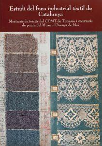 Portada llibre Estudi del fons industrial tèxtil de Catalunya