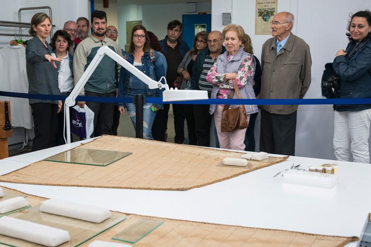 Imatge Nit dels Museus 2018 al CDMT: visita el Taller de restauració tèxtil.