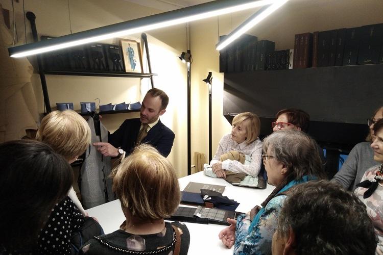Imatge visita a la sastreria D'Arnau Aguilar.