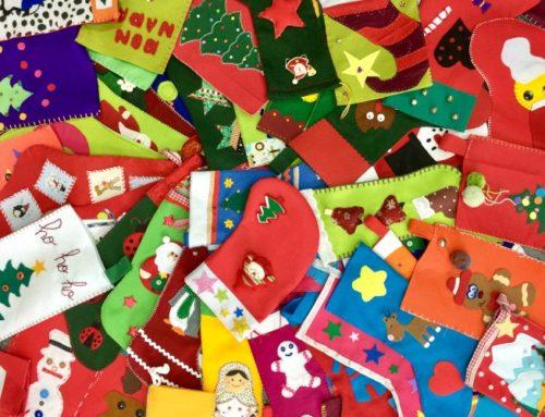 Más de 400 calcetines solidarios de Navidad