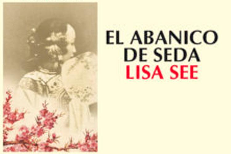 """Imatge detall portada llibre: """"El abanico de seda""""."""