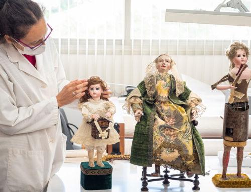 Vuelve el trabajo presencial en el taller de restauración textil