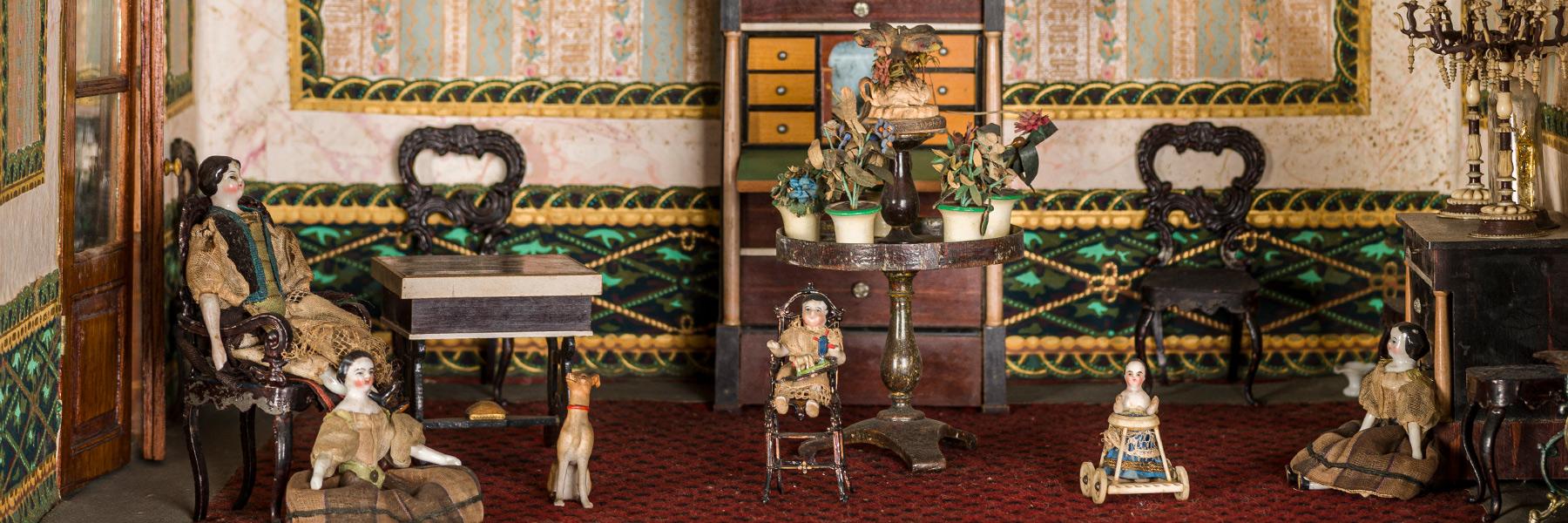 Imatge detall casa de nines, exposició Decòrum.