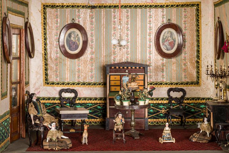 Imatge detall, casa de nines, exposició Decòrum.