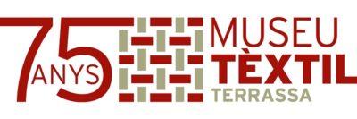 Logo 75 aniversari Museu Tèxtil de Terrassa.