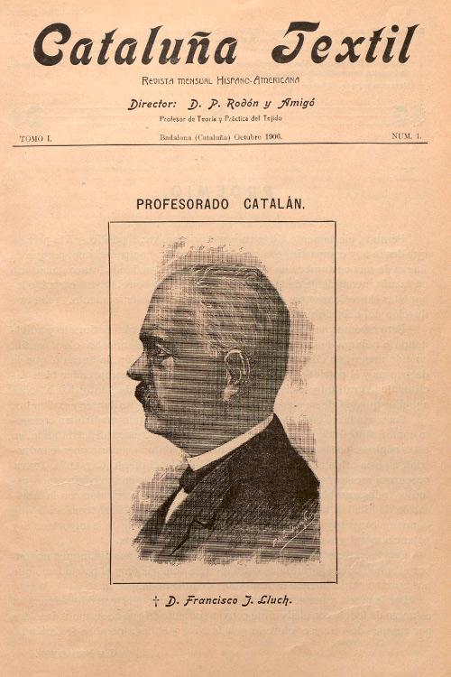 """Imatge portada revista """"Cataluña Textil"""""""