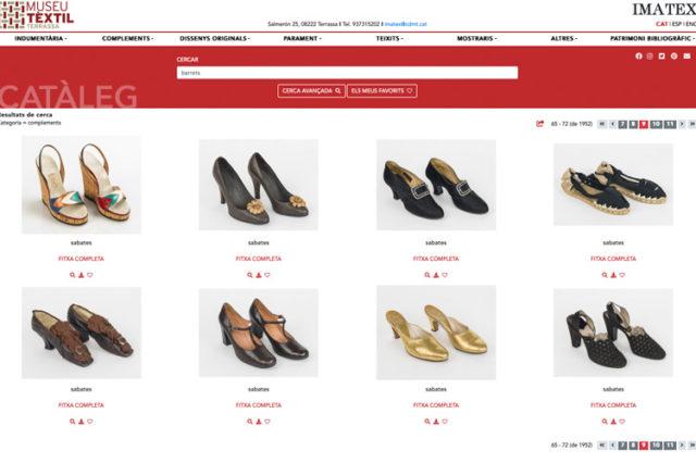 Imatge pantalla cerca sabates IMATEX nou